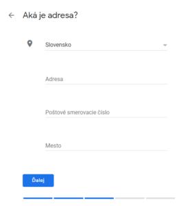 Google moja firma registrácia krok 4