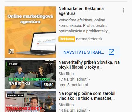 PPC reklama na youtube